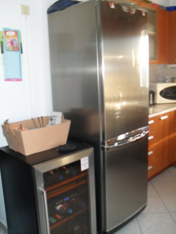 fridge and wine cooler
